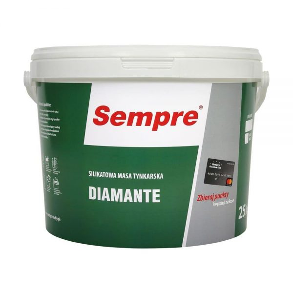 DIAMANTE Silicate plaster, sand-finish structure