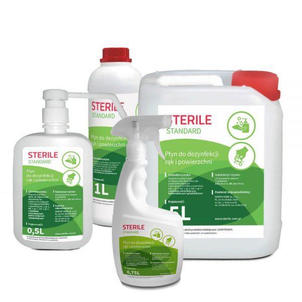 Sterile - tekutina pro dezinfekci rukou a povrchů